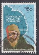 Australian Antarctic Territory  S 54 1982 Mawson 75c Map Used