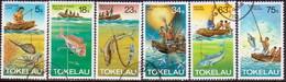 TOKELAU 1982 SG 85-90 Compl.set Used Fishing Methods - Tokelau