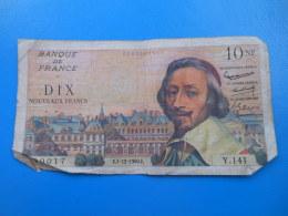 10 NF Richelieu 1-12-1960 N°90017 Fayette 57/12 TB - 1959-1966 Nouveaux Francs