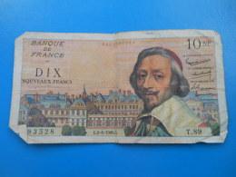 10 NF Richelieu 2-6-1960 N°93528 Fayette 57/8 TB - 1959-1966 Nouveaux Francs