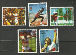 Paraguay POSTE AERIENNE N°1047 à 1051 Cote 4 Euros - Paraguay