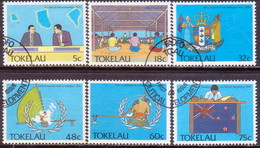TOKELAU 1988 SG 159-64 Compl.set Used Political Development - Tokelau