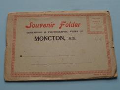 MONCTON N.B. - Souvenir FOLDER - Anno 19?? ( Zie Foto Details ) !!