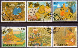 TOKELAU 1990 SG 177-82 Compl.set Used Women's Handicrafts - Tokelau