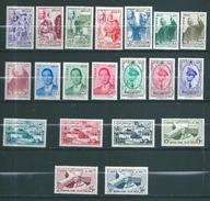 Timbres Du Maroc De 1956/58  N°369 A 388 Complet  Neufs ** Et * - Marocco (1956-...)