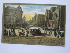 AUSTRALIA - Melbourne - Swanston Street - 1908 - Sent Marengo To Manchester England - Melbourne