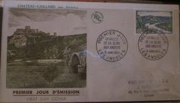 FDC - 1954 - Les Andelys - YT 977 - France