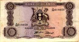 OUGANDA 10 SHILLINGS De 1966nd Pick 2 - Ouganda