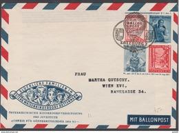 Österreich 1954:  PGU GS 11.Kinderdorf-Ballonpost 3.5.1954 Salzburg (siehe Scan/Foto) - Per Palloni