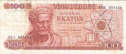 GRECE   100 Drachmai   1/10/1967   P. 196b - Grèce