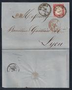 DA GENOVA A LYON - 4.6.1862. - 1861-78 Victor Emmanuel II