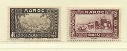 MAROC  ( D18 - 489 )  1933  N° YVERT ET TELLIER   N°  137/138  N** - Ungebraucht