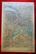 Foglio 1, Aosta - Losanna, ATLANTE STRADALE D'ITALIA Touring Club Italiano 1923-26 (Dir. L. V. Bertarelli) - Carte Stradali