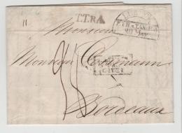 Lub004 / T-Th. Post Nach Frankreich 1822