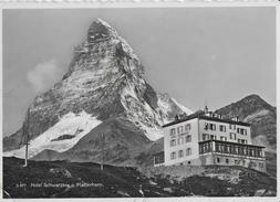 HOTEL SCHWARZSEE SOTTO MATTERHORN - SVIZZERA -  B/N ANNI '50 - VIAGGIATA 1962 FRANCOBOLLO ASPORTATO - Hoteles & Restaurantes