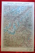 Foglio 2, Domodossola - Sempione, ATLANTE STRADALE D'ITALIA Touring Club Italiano 1923-26 (Dir. L.V. Bertarelli) - Carte Stradali