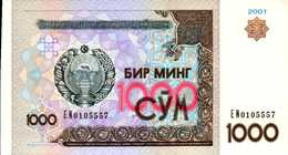 OUZBEKISTAN 1000 SUM De 2001 Pick 82  UNC/NEUF - Uzbekistan