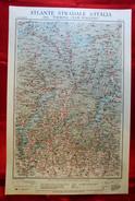 Foglio 3, Como - Gottardo, ATLANTE STRADALE D'ITALIA Touring Club Italiano 1923-26 (Dir. L.V. Bertarelli) - Carte Stradali