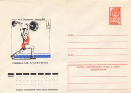RUSSIA - Intero Postale - MOSCA  OLIMPYCS 1980 - Sollevamento Pesi - Pesistica