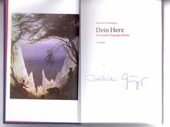 """DIETRICH GRÖNEMEYER, """"DEIN HERZ"""", Signiertes Exemplar - Autographed"""