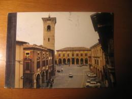 CARTOLINA FORMATO -   RAVENNA BAGNACAVALLO SCORCIO TORRE CIVICA ANIMATA  - B  1493 - Ravenna