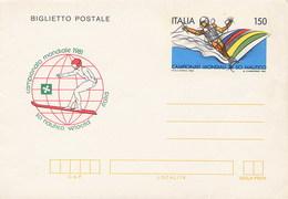 ITALIA - Intero Postale - SCI NAUTICO - CAMPIONATO MONDIALE 1981 VELOCITA'
