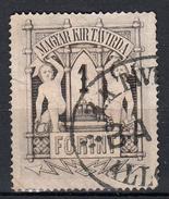 Hongarije 1873 Mi Nr 7; 1 Florint: Let Op: Zie Scan Achterzijde!! - Télégraphes