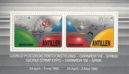 1992 Netherlands Antilles Colombus 500th Anniversary Discovery America Souvenir Sheet  MNH - Christoph Kolumbus