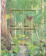 1991 New Nouvelle Caledonia Butterflies Papillion Souvenir Sheet  MNH - Farfalle