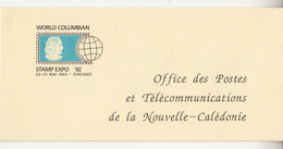 1992 New Nouvelle Caledonia Columbus Ships  Booklet Carnet  With Pane Of 3  MNH - Christophe Colomb