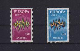 ANDORRA FRANCESE EUROPA CEPT 1972 GOMMA INTEGRA MNH ** - Andorra Francese