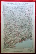 Foglio 16, Cuneo - Nizza, ATLANTE STRADALE D'ITALIA Touring Club Italiano 1923-26 (Dir. L. V. Bertarelli) - Carte Stradali