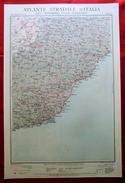 Foglio 17, Porto Maurizio - Savona, ATLANTE STRADALE D'ITALIA Touring Club Italiano 1923-26 (Dir. L. V. Bertarelli) - Carte Stradali
