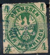 Stamp German States Prussia 1861 4pf Used Lot#111 - Prussia