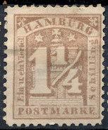 Stamp German States Hamburg 1864 1 1/4s Mint Lot#3 - Hambourg