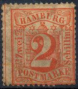 Stamp German States Hamburg 1859 2s Mint Lot#12 - Hamburg