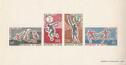 1964 Niger Olympics Tokyo Miniature Sheet Of 4 MNH - Niger (1960-...)