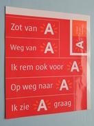 Zot Van A - Weg Van A - Ik Rem Ook Voor A - Op Weg Naar A - Ik Zie A G ( 17 X 15 Cm.) ANTWERPEN ( Zie Foto) ! - Autocollants