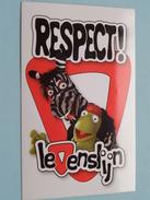 RESPECT ! Levenslijn ( 7 X 10,5 Cm.) VTM - België ( Zie Foto) ! - Autocollants