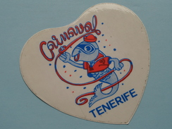 CARNAVAL - TENERIFE ( +/- 10 X 10 Cm./ Zie Foto) ! - Autocollants