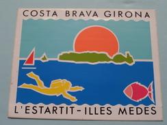 COSTA BRAVA GIRONA - L'ESTARTIT Illes Medes ( +/- 13 X 10,5 Cm./ Zie Foto) ! - Autocollants