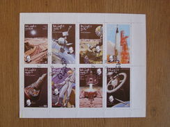 STATE OF OMAN 1974 Espace Space Astronautique Engin Spatial Conquête Fusée Winston Churchill Sheet Stamp Bloc Timbres - Timbres