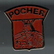 """Pin's POCHER Avec Gravure Au Verso """" Promodel 20 98 55 04 """" - Marche"""