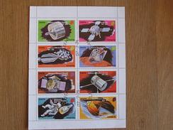 STAFFA 1974 Espace Space Astronautique Engin Spatial Apollo Fusée Centenary Winston Churchill Sheet Stamp Bloc Timbres - Blocks & Miniature Sheets