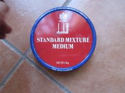 Scatola Vuota Originale Epoca DUNHILL Standard Mixture Medium Metallo 50 G - Contenitori Di Tabacco (vuoti)