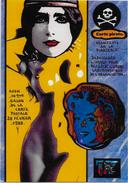 CPM LARDIE JIHEL Tirage Limité En 30 Exemplaires Signés AVON 1988 Salon Pirate Cléo De Mérode - Bourses & Salons De Collections