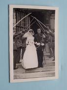HUWELIJK Militair ( Luitenant & Mevr. A. Lumbeeck - Luysterburg ) Anno 1960 Met Omslag ( Zie Foto's Detail ) ! - Documents