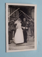 HUWELIJK Militair ( Luitenant & Mevr. A. Lumbeeck - Luysterburg ) Anno 1960 Met Omslag ( Zie Foto's Detail ) ! - Documenten