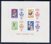 HUNGARY 1965 Stamp Day Imperforate Block MNH / **.  Michel Block 51B - Blocks & Sheetlets