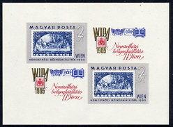 HUNGARY 1965 WIPA Exhibition Imperforate Block MNH / **.  Michel Block 47B - Blocks & Sheetlets